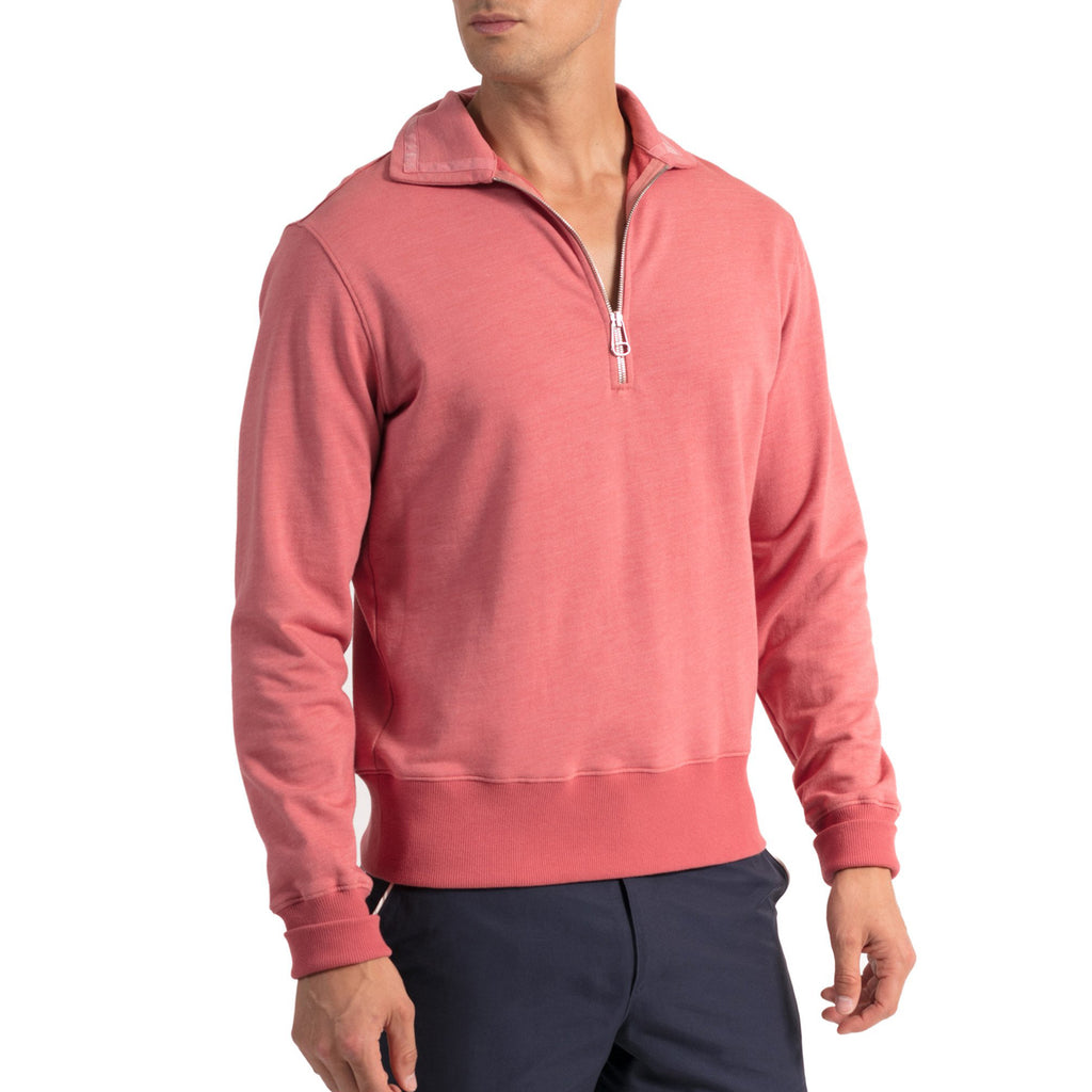 Robert Half-Zip - Smokey Pink