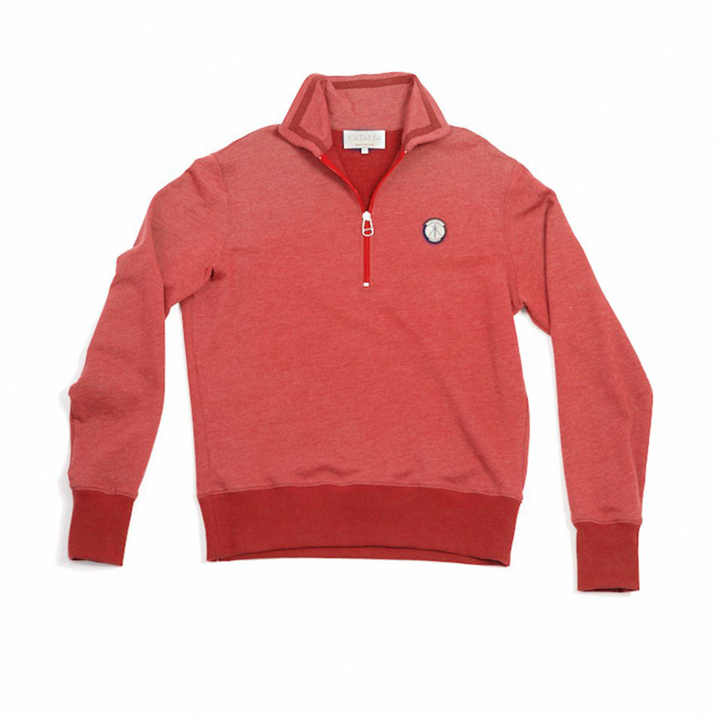 Robert Half-Zip - Vineyard Red
