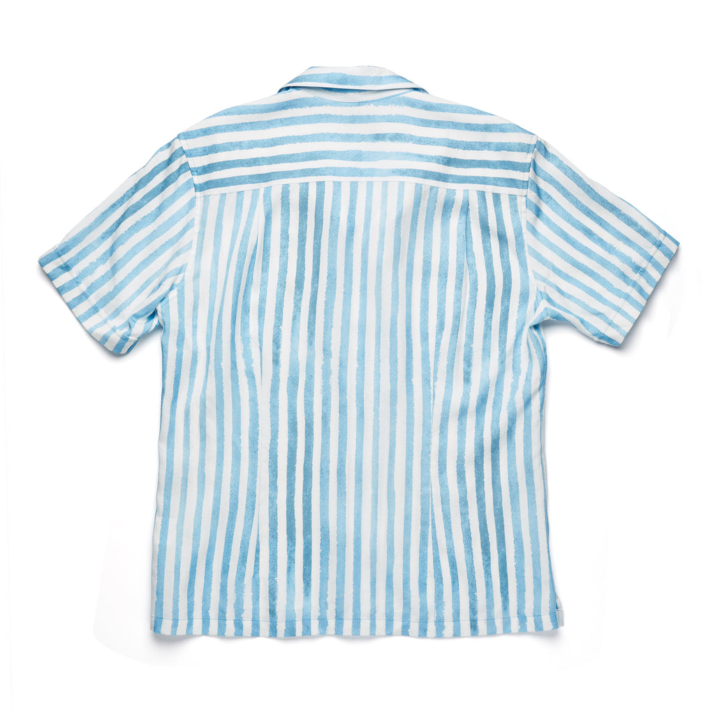 SCOUT SHIRT - BRUSH STROKES IN SURF BLUE