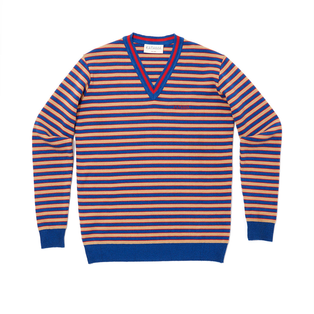 SUMMER SWEATER- Azure/Bronze/Red