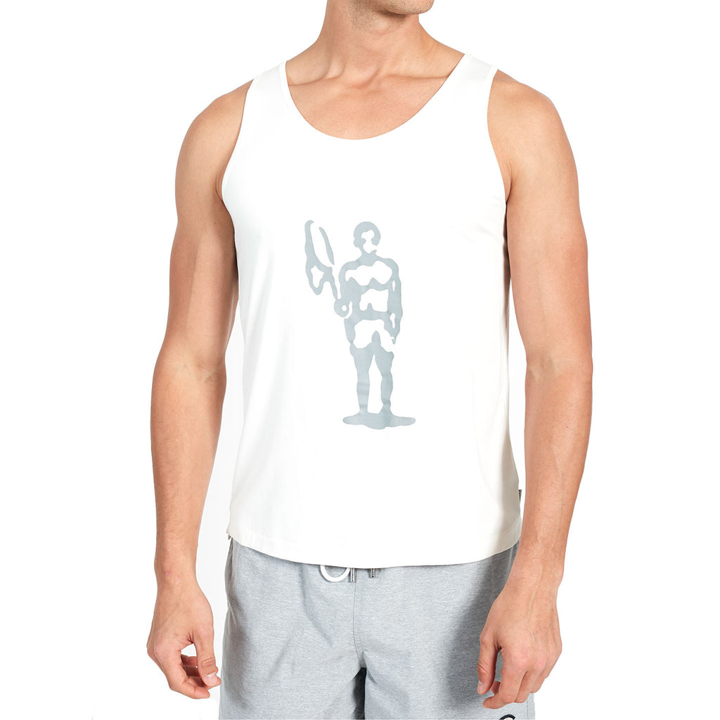 Fishing Net Sportsman Tank - Brushed Chrome