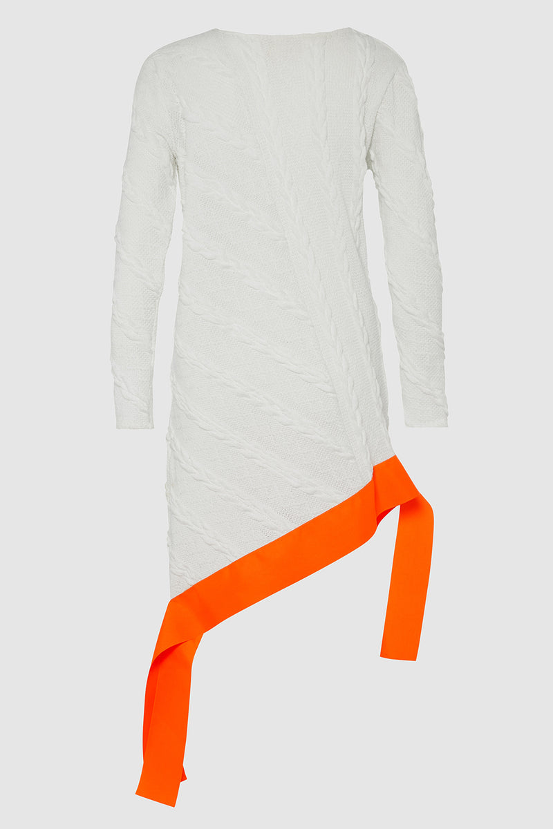 OSLO CABLE KNIT DRESS WITH GROSGRAIN EDGE