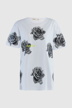 INDUSTRIAL FLOWER PRINT TEE