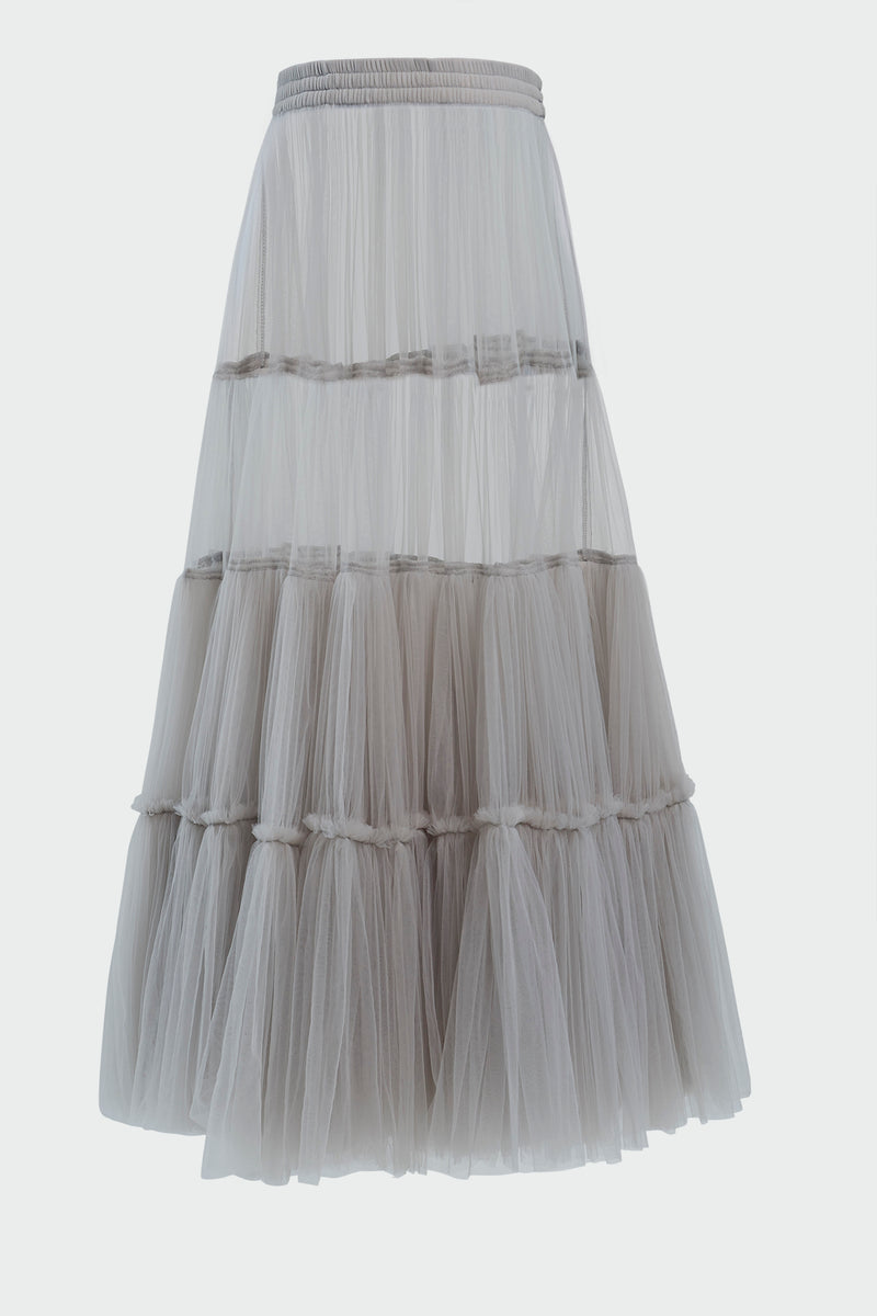 EXTRA VOLUME TIERED TULLE SKIRT