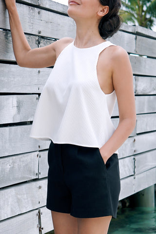 Grace Cutaway Shoulder Top