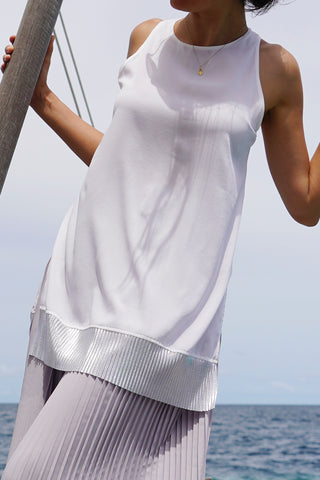 Grace Silver Edge Sleeveless Top