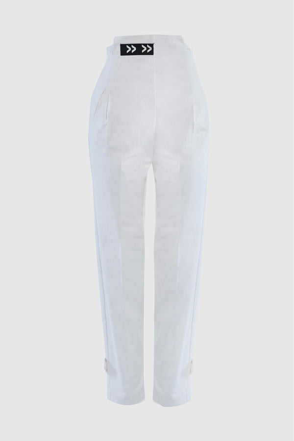 HIGH WAISTED TWILL SKINNY PANTS