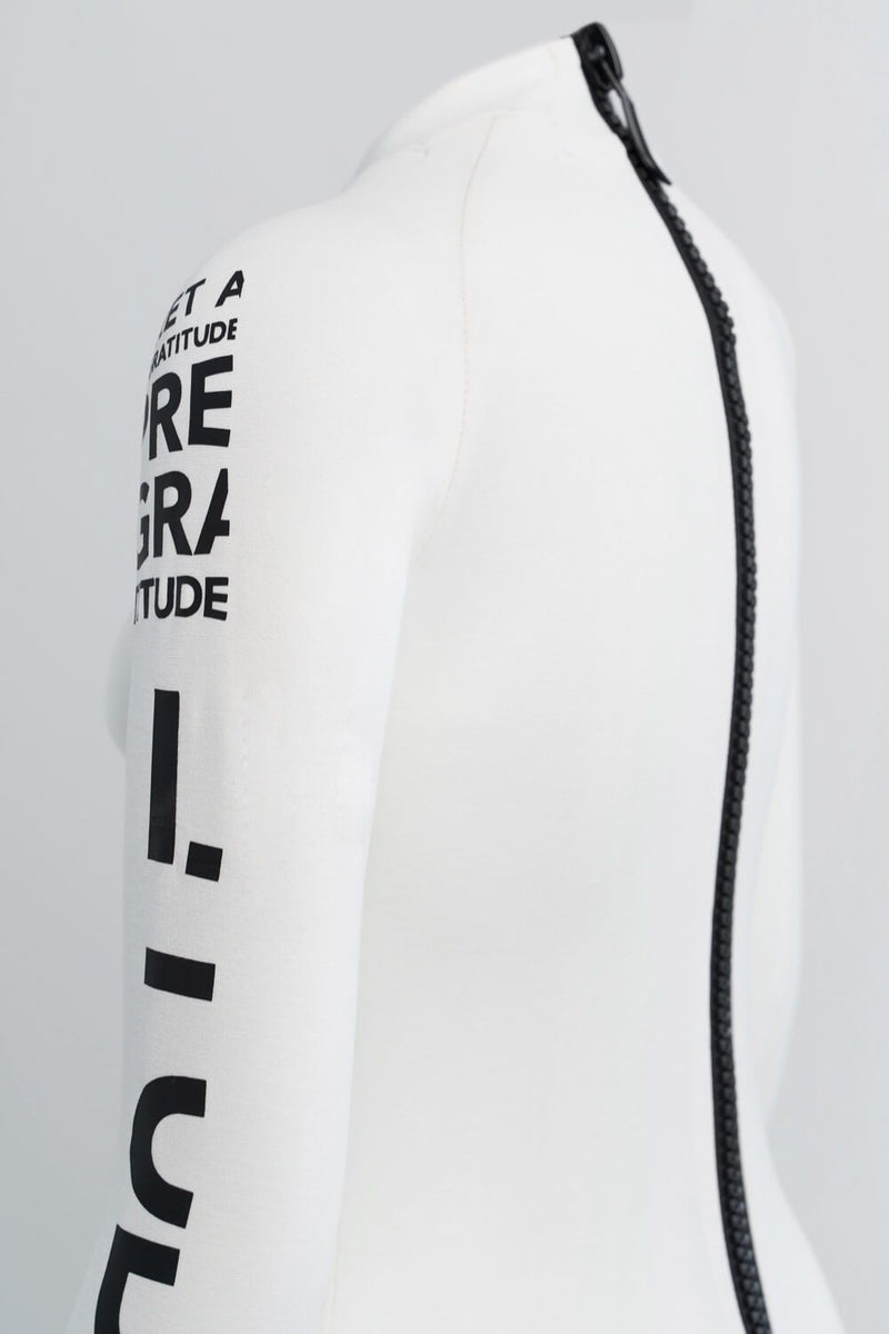 BODYSUIT WITH SIGNATURE ZIPPER