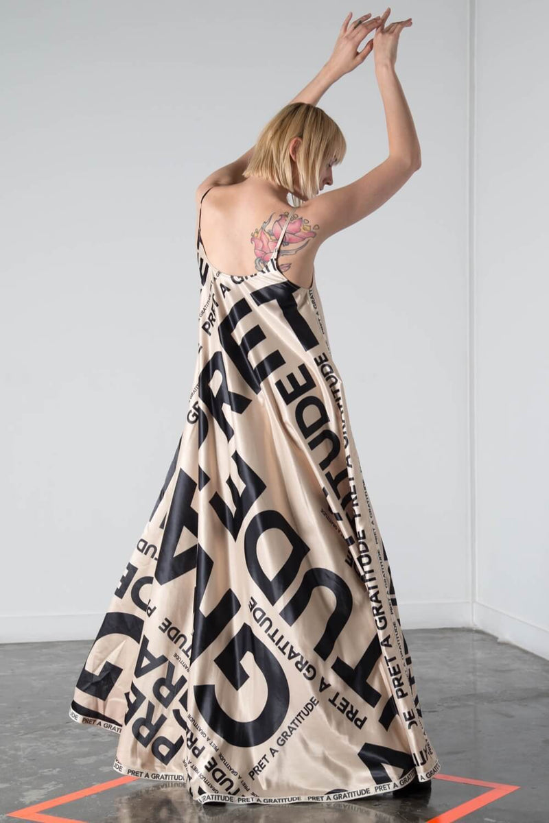 PAG PRINT MAXI SLIP DRESS