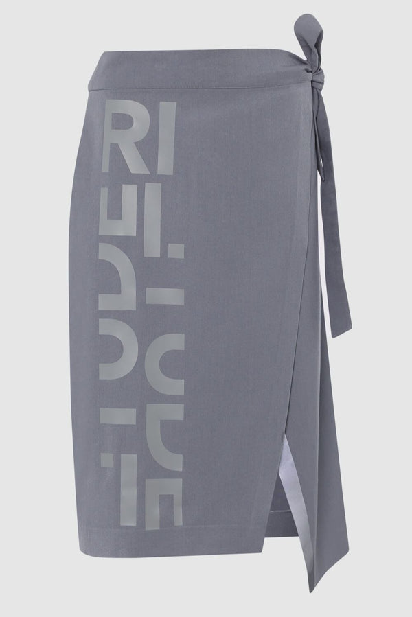 WRAP SKIRT WITH TECH PRINT & REFLECTIVE EDGE
