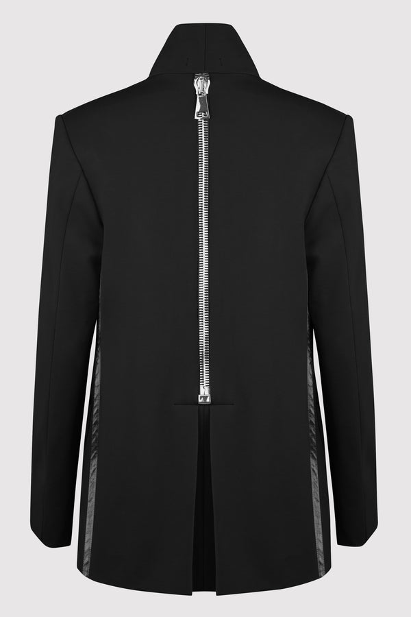 ROMA ZIP BACK PONTE KNIT BLAZER