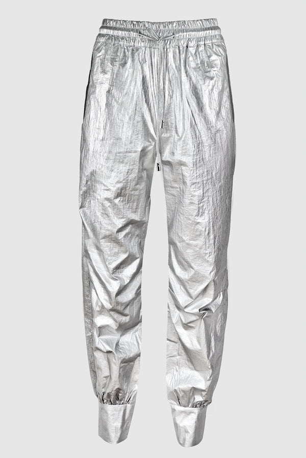 METALLIC TRACK PANTS