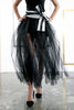 Tulle Strip Skirt