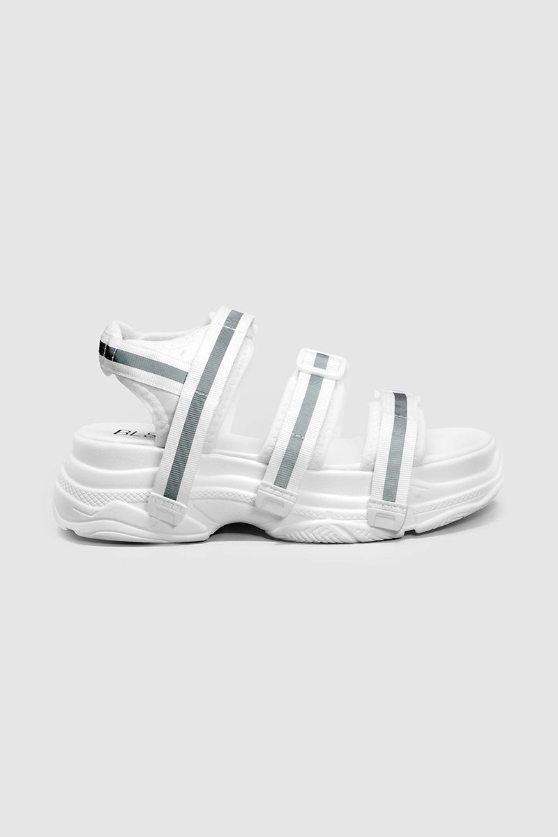 REFLECTIVE CHUNKY SANDALS