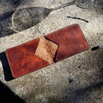 Load image into Gallery viewer, Product Photography. Strong Shadow. Directive Leather Bifold WAllet. Brown Leather.