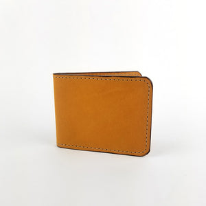 Honey Leather Bifold Wallet. Modern Minimal by Directive