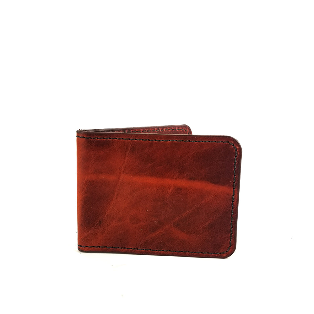 Snakebite Leather Wallet by Directive. Brown Leather Bifold.