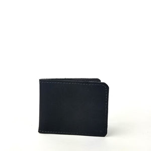 Matte Black Bifold Wallet by Directive. Minimal Card Wallet
