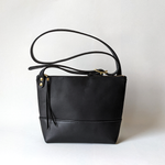 Load image into Gallery viewer, Petite Cross Leather Bag Matte Black Directive