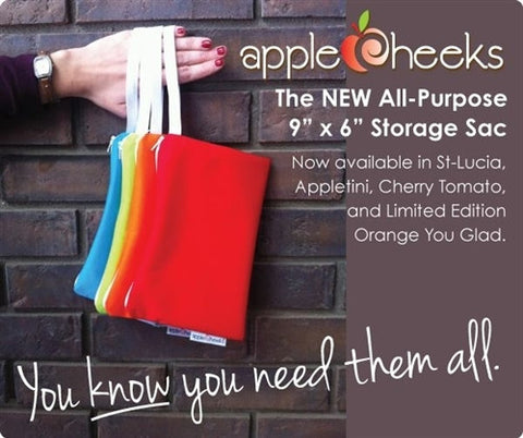 AppleCheeks Mini Zippered Storage Sac and Wipes