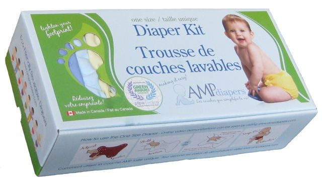 AMP One Size Bamboo Diaper Kit