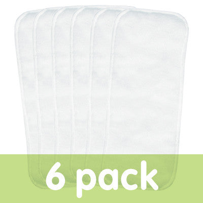 bumGenius Stay Dry Diaper Doubler - 6 Pack