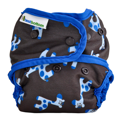 Best Bottom One Size Cloth Diaper Shell - Hook and Loop