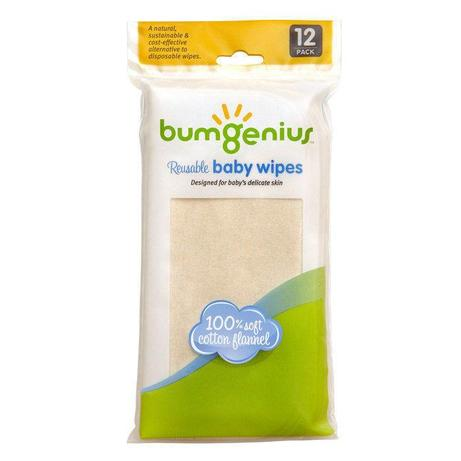 bumGenius Flannel Wipes - 12 Pack