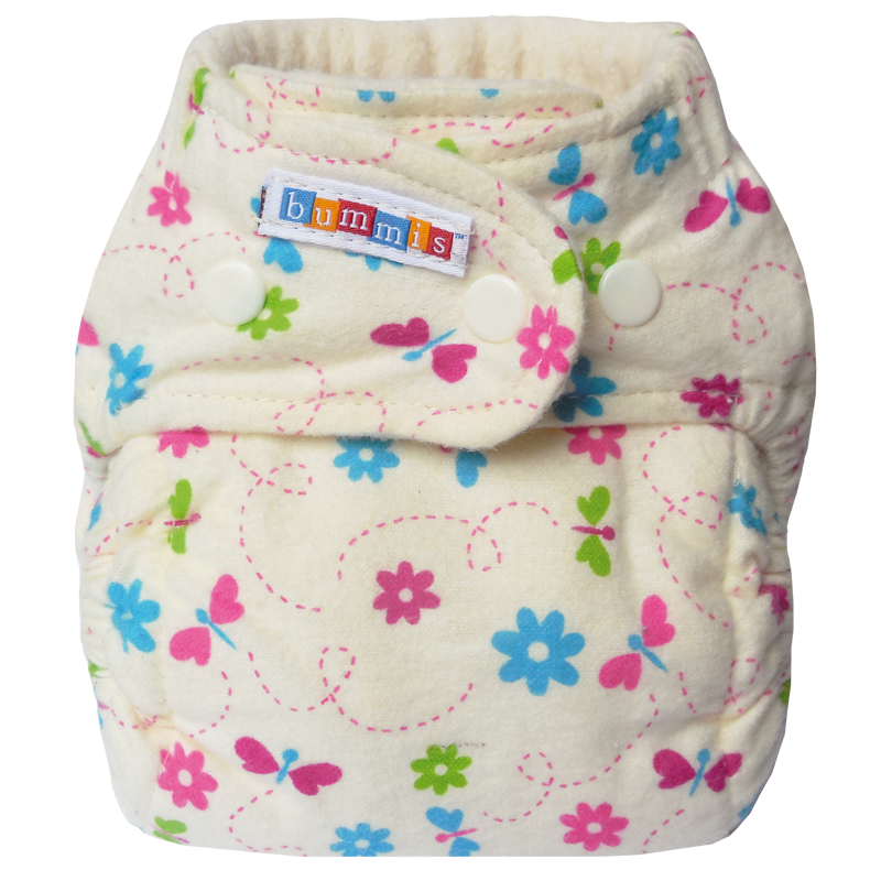 Bummis Flannel Fitted Cloth Diaper
