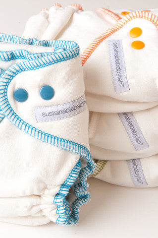 sustainablebabyish Overnight Bamboo Fleece Fitted Cloth Diapers