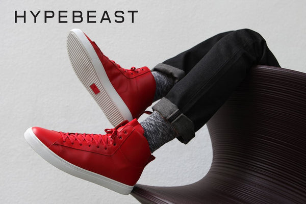 hyperbeast clae los angeles frazier leather sneakers boots
