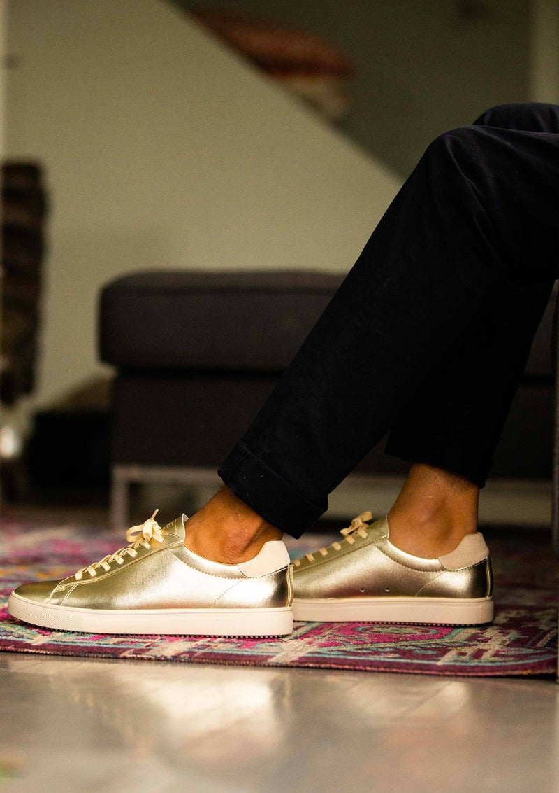 clae los angeles sneakers bradley gold leather