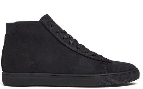 Black Waxed Suede