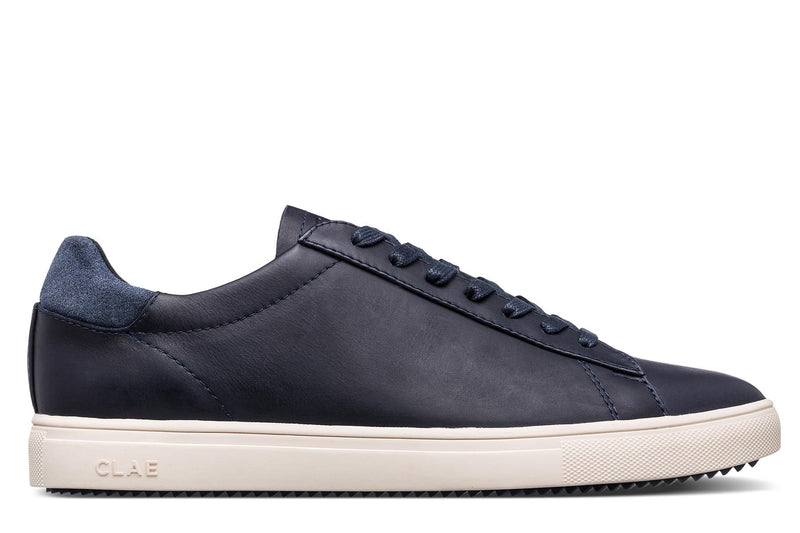deep navy aniline leather court sneakers CLAE los angeles Bradley Stan Smith