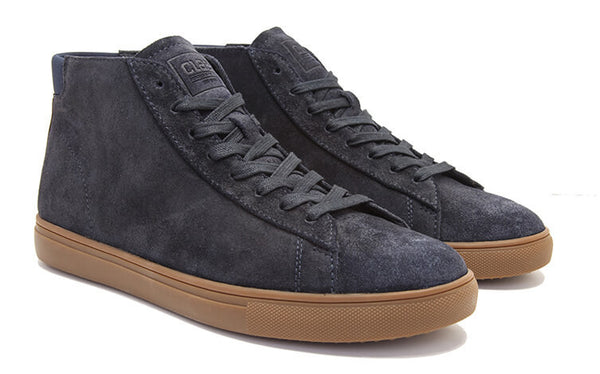 DEEP NAVY WAXED SUEDE