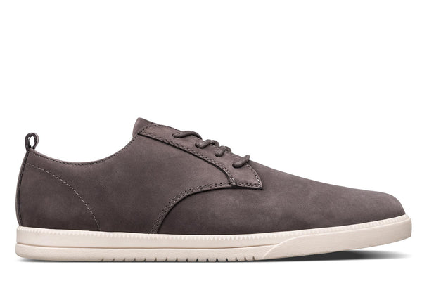 Derby brown charcoal nubuck leather sneakers CLAE los angeles