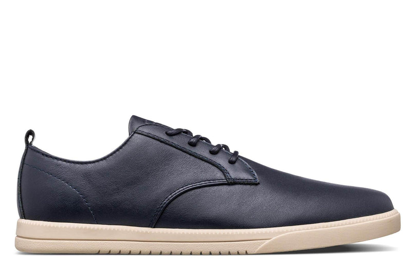 Derby deep navy blue nappa leather sneakers CLAE los angeles