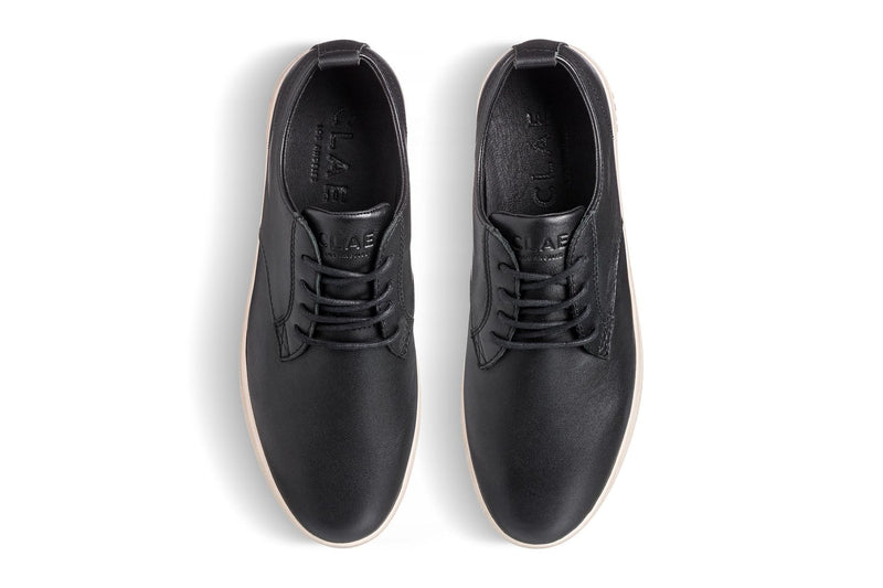 Black Milled Nappa Leather Derby sneakers CLAE los angeles