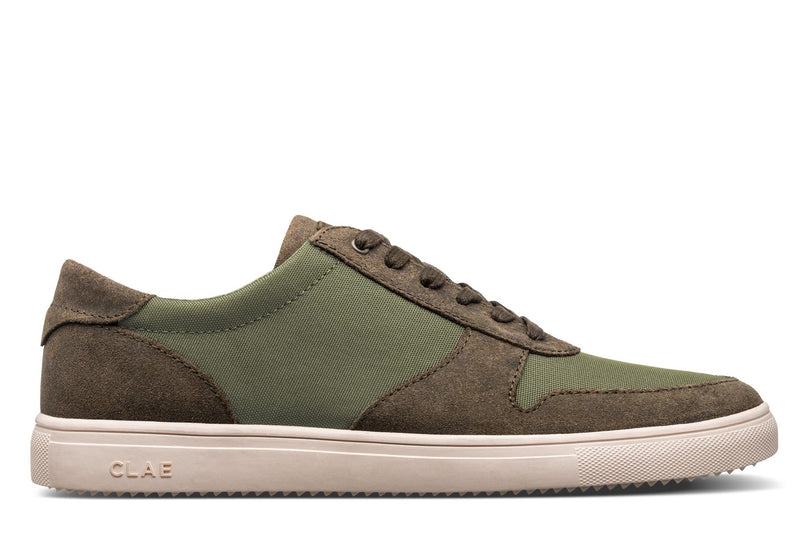 Athletic hiking green waxed Suede Sneakers Gregory CLAE los angeles