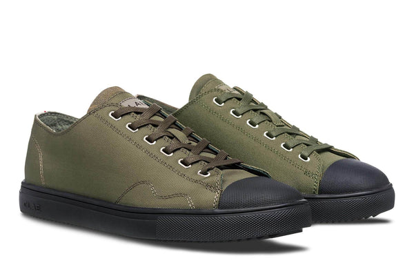 Hiking Green black sole toe cap sneakers CLAE los angeles Herbie