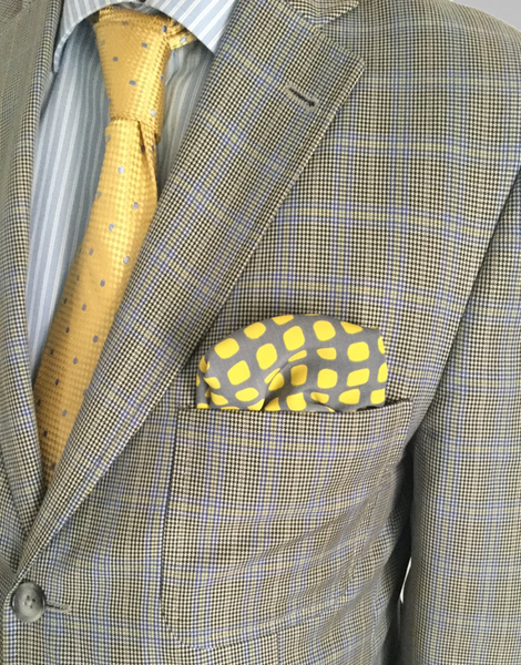 Yellow Oval Pocket Square