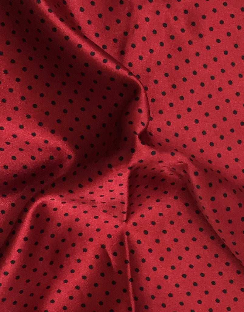 Red & Black Polka Dot Pocket Square