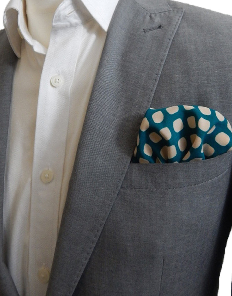 Green Oval Pocket Square