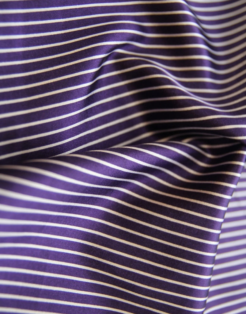 Purple Stripe Pocket Square