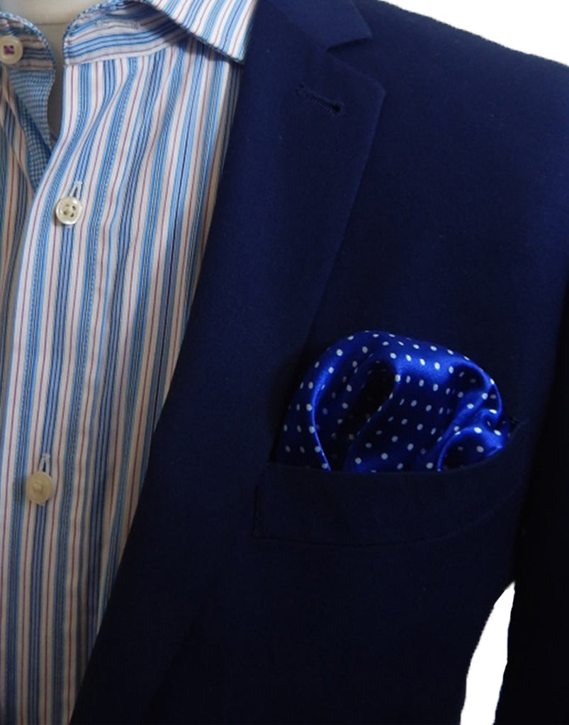 Light Blue & White Polka Dot Pocket Square