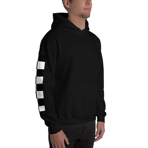 Harris Couture Checkered Hoodie Black