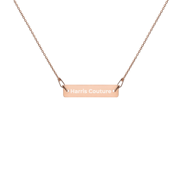 Personalise Rose Gold Bar Chain Necklace