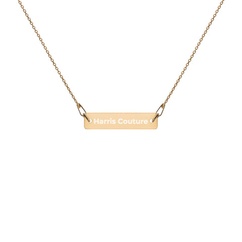 Personalise Gold Bar Chain Necklace