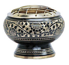 Brass Lattice Herb and Resin Burner