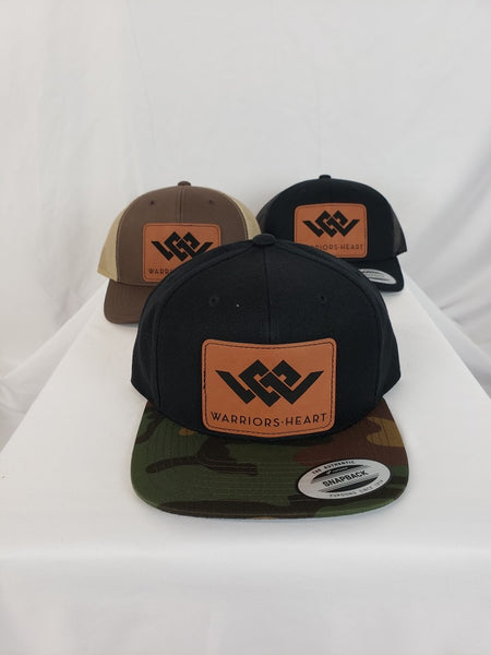 Warriors Heart Structured Trucker Hat - Leather Brand